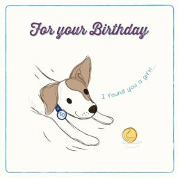 Tommy Doggy Card - Gift Ball