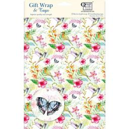 Gift Wrap & Tags - Tropical Floral