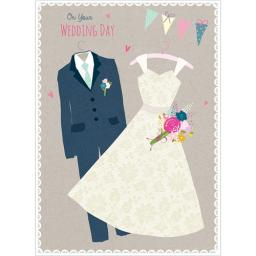 Wedding Card - Dress & Suit