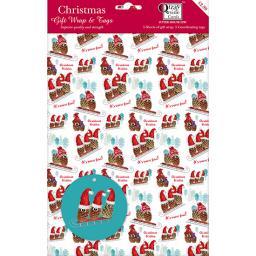 Christmas Wrap & Tags - Pinecone Fun!
