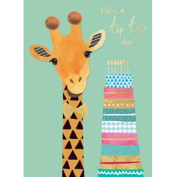 Pom Poms Card Collection - Tip Top Giraffe