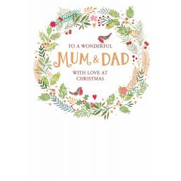 Christmas Card (Single) - Mum & Dad