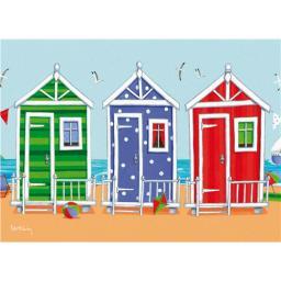 Peter Adderley Card - Beach Huts