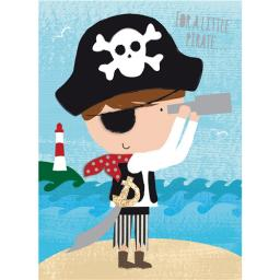 Hip Hip Hooray Card - Percy The Pirate