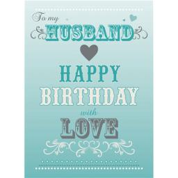 Family Circle Card - Birthday Text (Husband)