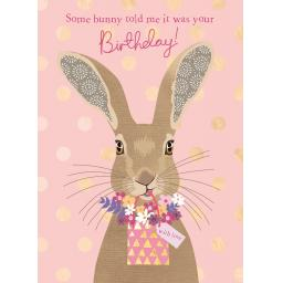 Pom Poms Card Collection - Somy Bunny Hare