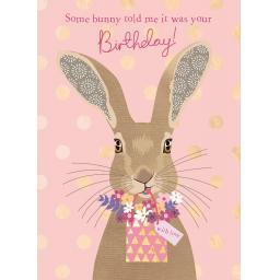 Pom Poms Card Collection - Somy Bunny Hare
