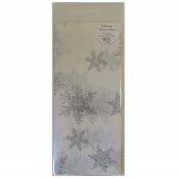 Christmas Tissue Paper Pack - Pearl & Silver Snowflakes