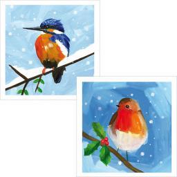RSPB Luxury Christmas Card Pack - Snowy Scenes