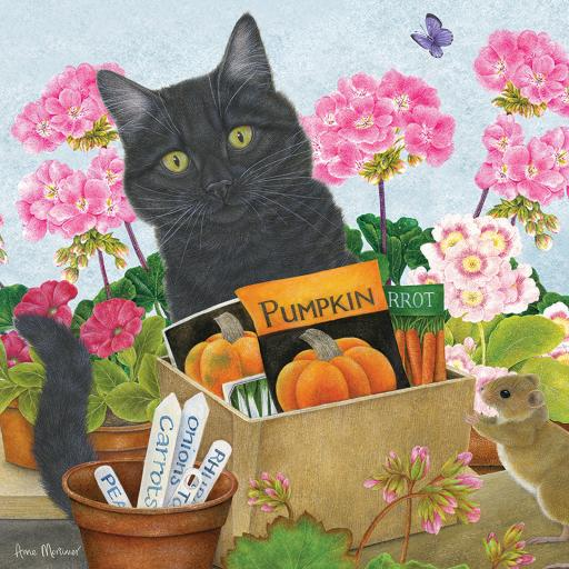 Square Jigsaw - Black Cat 'Pumpkin'