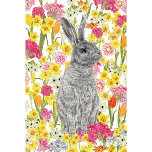 Easter Card Pack (Mini) - Hare In Flowers