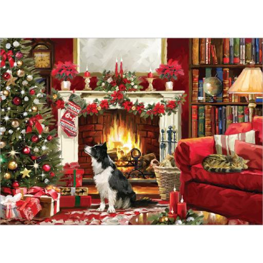 Rectangular Jigsaw - Festive Fireside