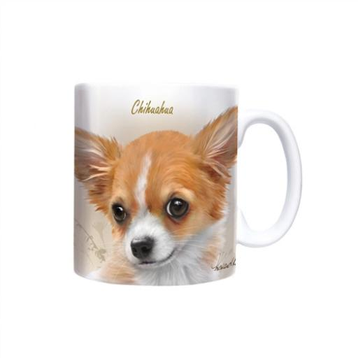Straight Sided Mug - Chihuahua (Sepia)
