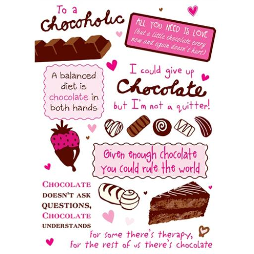 A Way With Words Card - To A Chocoholic