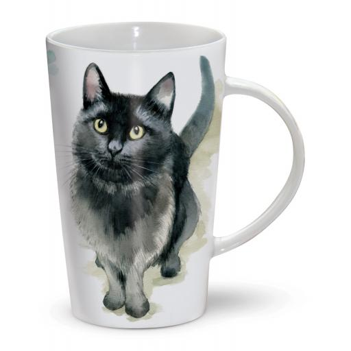 Latte Mug - Black Cat