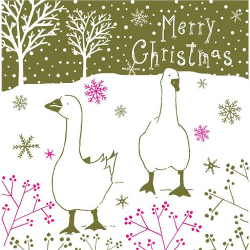 RSPB Small Square Christmas Card Pack - Christmas Stroll
