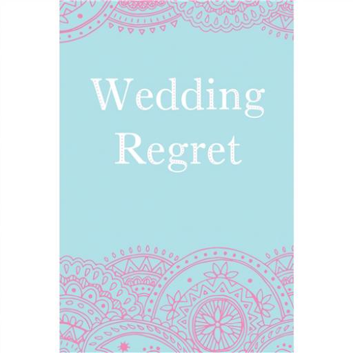 Wedding Regret Card - Pattern On Blue