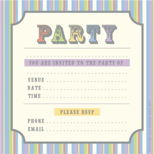 Social Stationery - Party Text (Party Invitations)