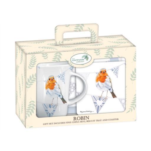 Tea Time Gift Set - Robin On Bunting