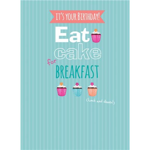 A Way With Words Card - Eat Cake For Breakfast