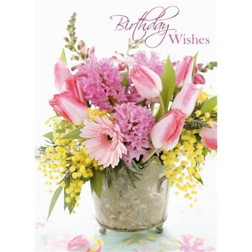 Floral Birthday Card - Tulips