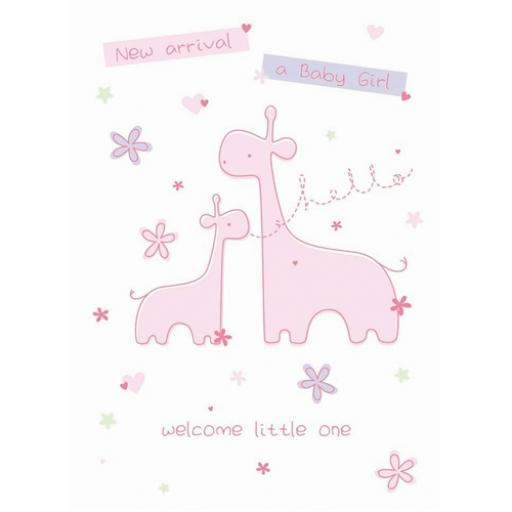 New Baby Card - Little Girl (Baby Girl)