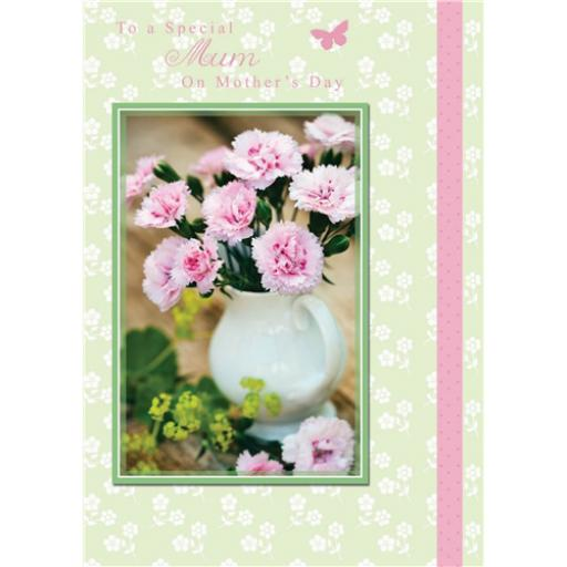 Mother's Day Card - Jug Of Pinks
