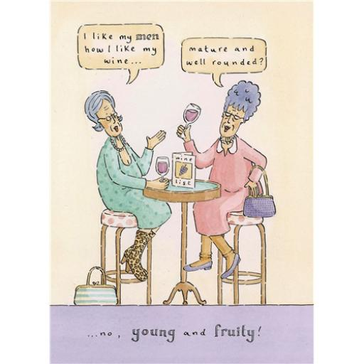Blue Rinse Card - Fruity Wine