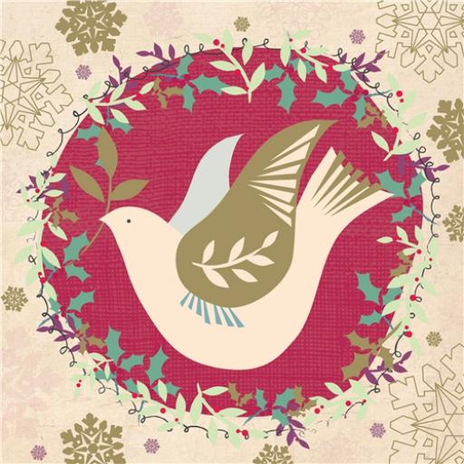 RSPB Small Square Christmas Card Pack - Dove's Flight