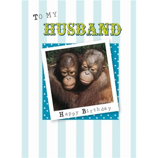 Family Circle Card - Orangutans (Husband)