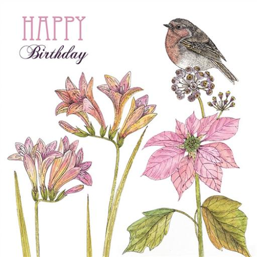 Vintage Garden Card - Freesia & Robin