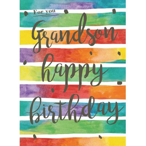 Family Circle Card - Patterned Text (Grandson)