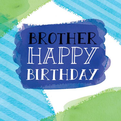 Family Circle Card - Colour Wash & Text (Brother)