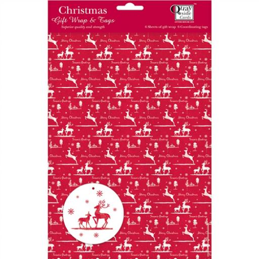 Christmas Wrap & Tags - Christmas Reindeers