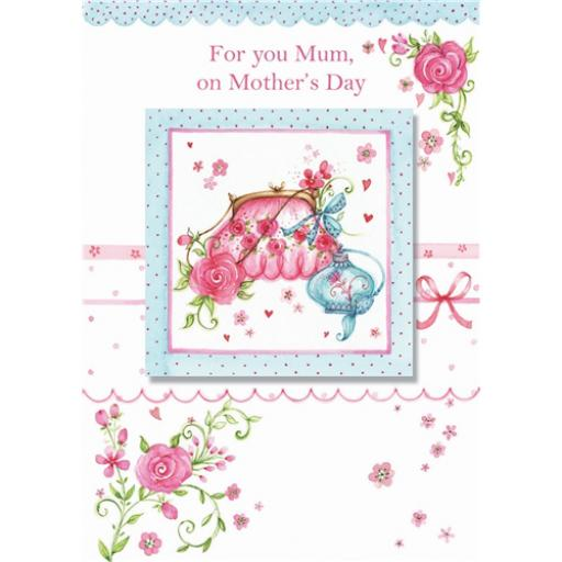Mother's Day Card - Handbag & Perfume