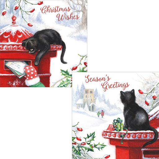 Luxury Christmas Card Pack - Christmas Kittens