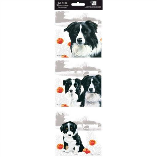 Hanging Notecard Pack - Border Collies