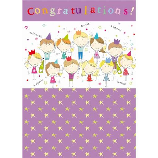 Congratulations Card - Party Cats