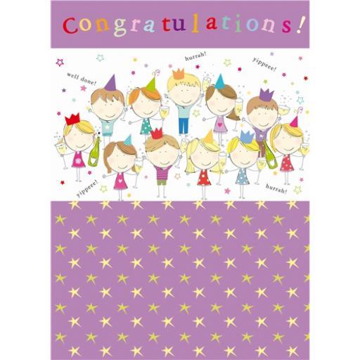Congratulations Card - Party Cats