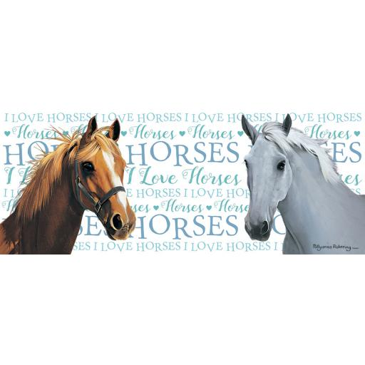 Straight Sided Mug - I Love Horses