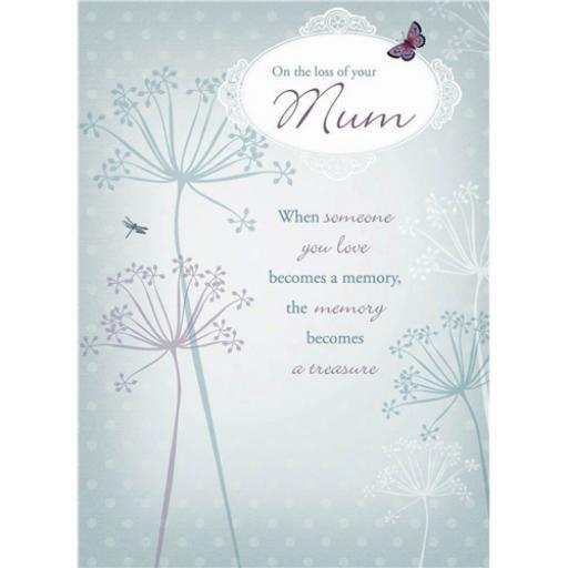 Sympathy Card - Vintage Garden (Mum)