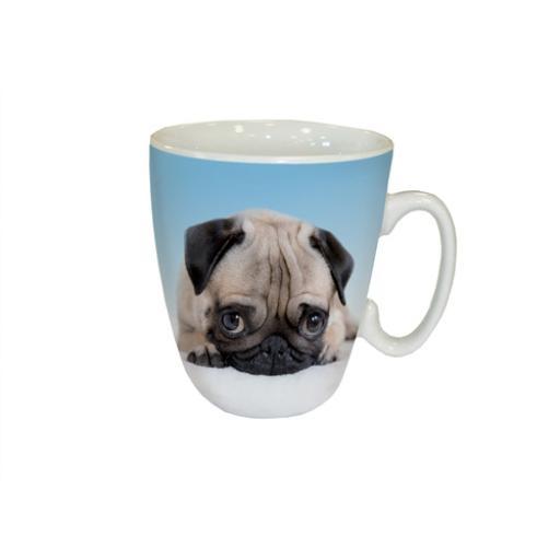 Curved Mug - Pug Love