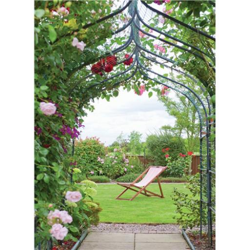 Beautiful Blanks Card - Rose Arch & Deck Chair