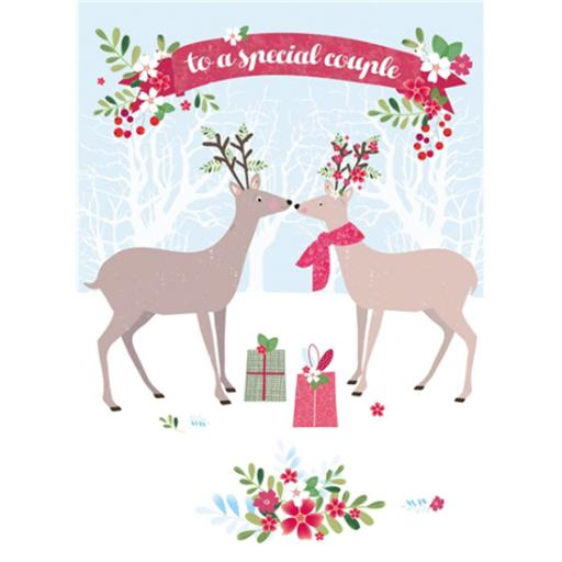 Christmas Card (Single) - Special Couple 'Deer & Stag'