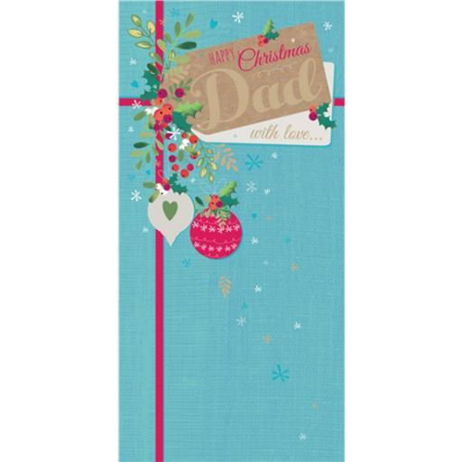 Christmas Card (Single) - Dad 'Present Tag'