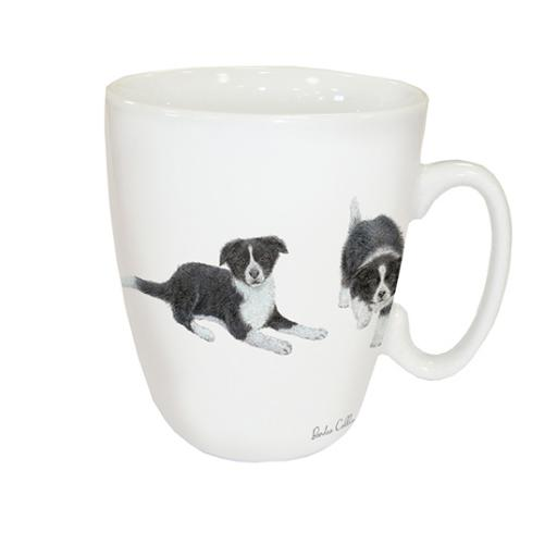 Curved Mug - Border Collies