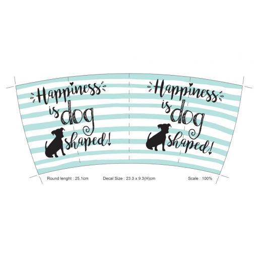 Curved Mug - Happiness Is Dog