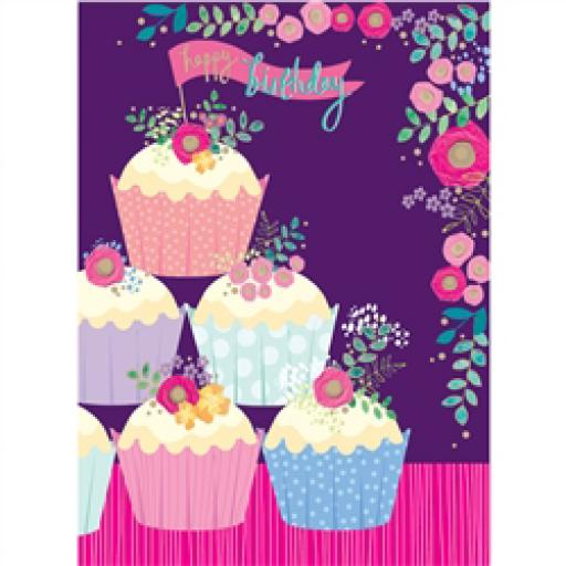 Rose Gold Card - Cupcake Mountain