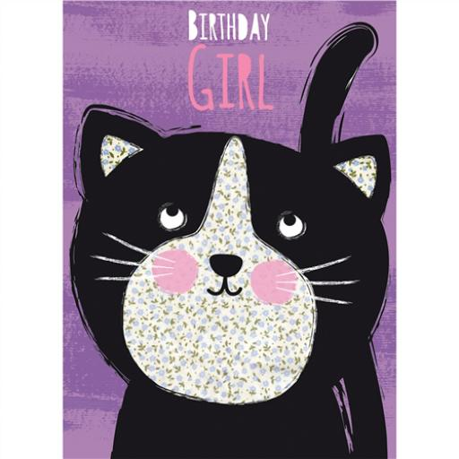 Hip Hip Hooray Card - Little Kitten
