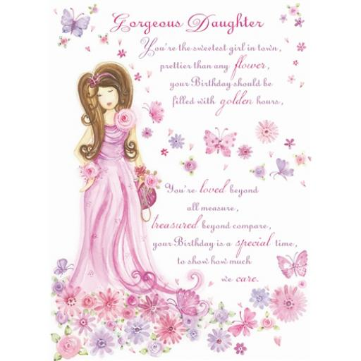 Sentiments Card - Gorgeous Daughter